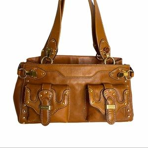 Michael Kors Boho Saddle Colored Leather Handbag